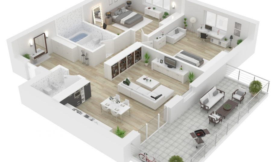 plan maison 3D